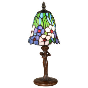 Springdale Antique Bronze Brescia One-Light Tiffany Accent Lamp
