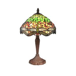 Springdale Antique Bronze Zelena Dragonfly One-Light Tiffany Table Lamp