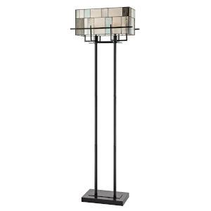 Stonegate Bronze Two-Light Tiffany Floor Lamp