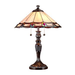 Springdale Antique Bronze Aldridge Peacock Two-Light Table Lamp