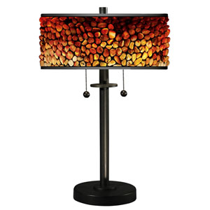 Tiffany Bronze Two-Light 14-Inch Table Lamp