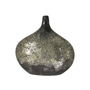 Silver Quartz Multi-Colored Silver Mosaic Decorative Vase