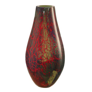 Multi-Colored Stuart Art Glass Vase