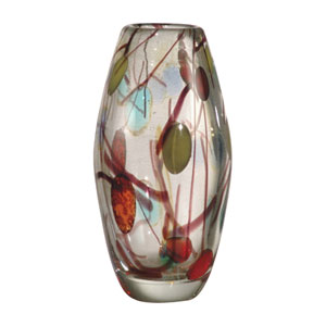 Multi-Colored Lesley Art Glass Vase