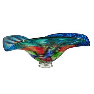 Hand Blown Art Glass 15-Inch Newport Heights Bowl