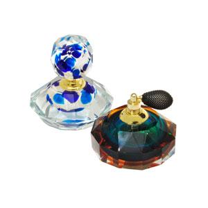 Hand Blown Art Glass 4-Inch 2-Piece Columbia Perfume Bottle