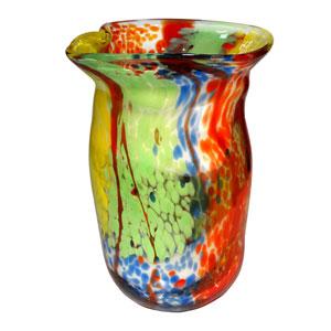 Hand Blown Art Glass 9-Inch Spectrum Vase
