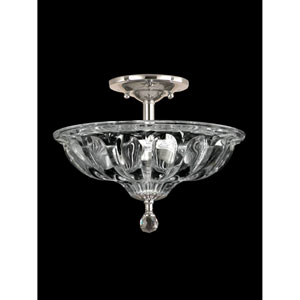 Polished Chrome 12-Inch Three-Light Golden Gate Semi Flush Mount