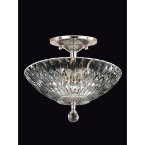 Polished Chrome 13-Inch Three-Light Lightwater Semi Flush Mount