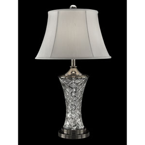Antique Nickel 17-Inch One-Light Rockledge Crystal Table Lamp