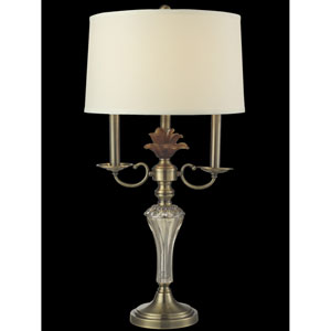 Antique Brass 15-Inch One-Light Champagne Table Lamp