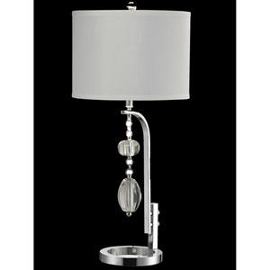 Polished Chrome 14-Inch One-Light Ashland Crystal Table Lamp