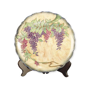 Wisteria Plate with Stand