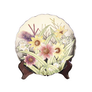 English Garden Plate with Stand
