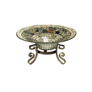 Silver 12-Inch Silver Decor Bowl With Stand