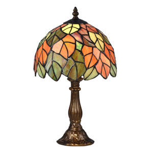 Cape Reinga Antique Bronze and Tiffany Accent Lamp
