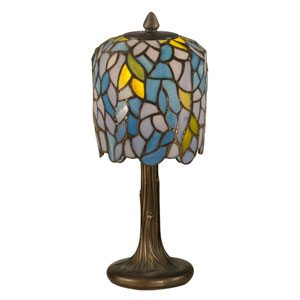 Dark Antique Bronze Wisteria Tiffany Accent Lamp
