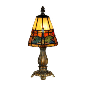Fieldstone 5-Inch One-Light Cavan Tiffany Accent Lamp