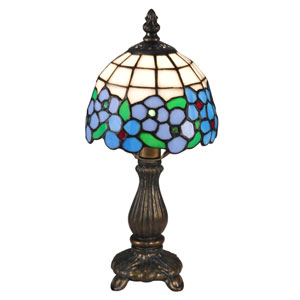 Antique Brass 6-Inch One-Light Daisy Accent Lamp