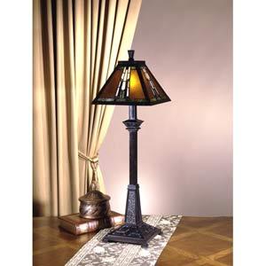 Amber Monarch Buffet Lamp