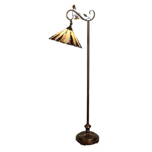 Antique Golden Sand Downbridge Tiffany Floor Lamp
