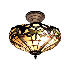 Cabrini Antique Bronze Paint Two Light 12.5-Inch Flush Mount