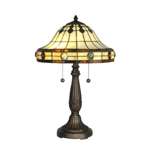Shop replacement mission style lamp shades bellacor antique golden sand 23 inch tiffany mission table lamp aloadofball Gallery