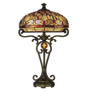 Antique Golden Sand 23.5-Inch Dragonfly Table Lamp