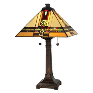 Fieldstone 15-Inch Two-Light Palo Mission Table Lamp