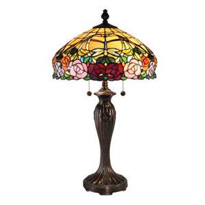 Fieldstone 16-Inch Two-Light Zenia Rose Table Lamp