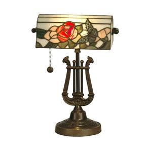 Antique Bronze 16-Inch Broadview Bankers Lamp