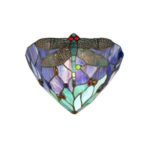 Multi-Colored Dragonfly Jewel Flush Mount Light