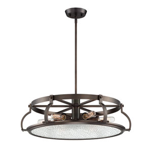 Eaton Satin Copper Bronze Six-Light Chandelier