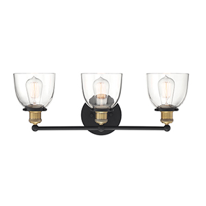Bryson Vintage Bronze Three-Light Bath Vanity