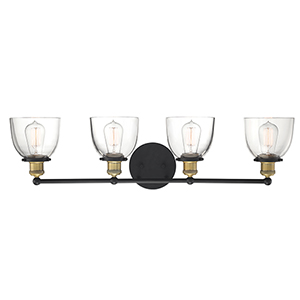 Bryson Vintage Bronze Five-Light Bath Vanity