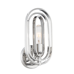 Kenzo Polished Nickel One-Light Wall Sconce