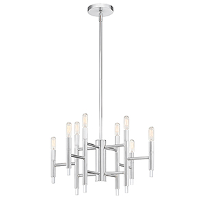 Jesa Chrome Eight-Light Chandelier