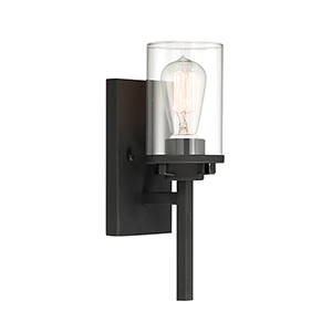 Jedrek Black One-Light Wall Sconce
