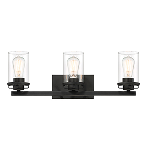 Jedrek Black Three-Light Bath Vanity