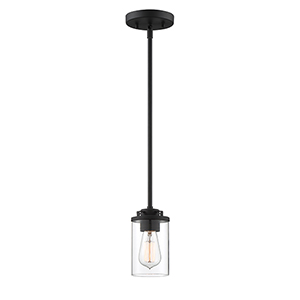 Jedrek Black One-Light Mini Pendant
