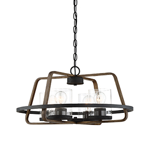Ryder Forged Black 22-Inch Four-Light Chandelier