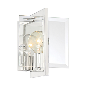 Ethan Polished Nickel One-Light Wall Sconce