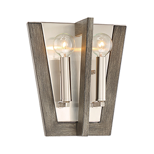 Westend Satin Platinum Two-Light Wall Sconce