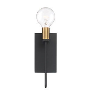 Ravella Black One-Light Wall Sconce