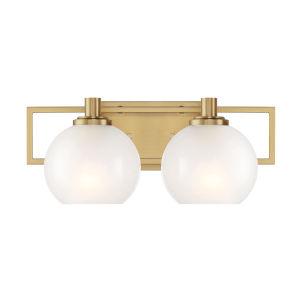 Cowen Brushed Gold Two-Light Bath Vanity