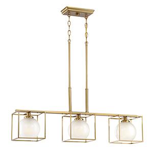 Cowen Brushed Gold Three-Light Chandelier