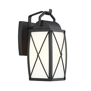 Fairlington Black Six-Inch One-Light Wall Lantern