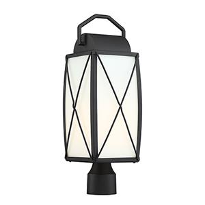 Fairlington Black One-Light Post Lantern