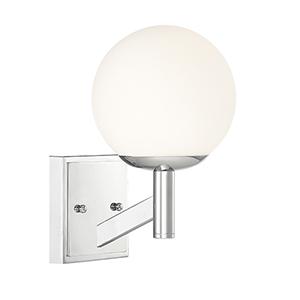 Kelvin Chrome One-Light Wall Sconce