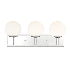 Kelvin Chrome Three-Light Bath Vanity